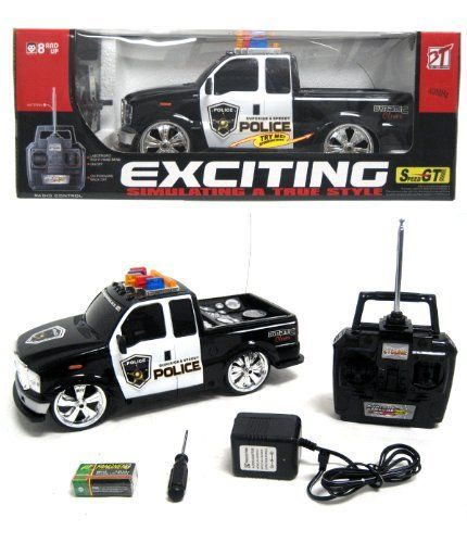 114 scale rc ford f 350 police truck car remote control kids toys