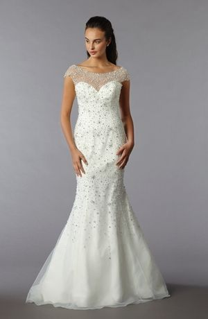 Sophia Moncelli - Illusion Mermaid Gown in Beaded Embroidery