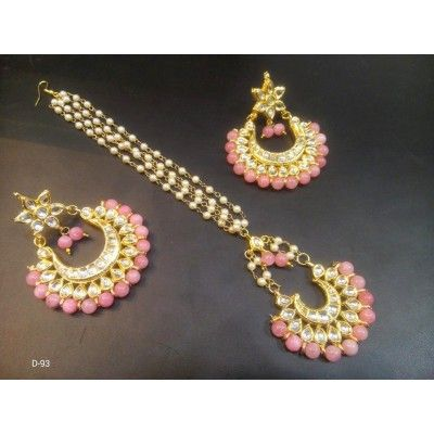 BEST SELLER COLORFUL MAANGTIKKA WITH MATCHING EARRINGS
