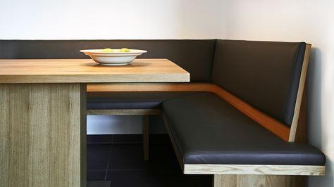 Wir planen, und fertigen Ihre Eckbank mit passendem Tisch nach Maß und Ihren Vorgaben - Held Schreinerei   Interior Design, Freising München