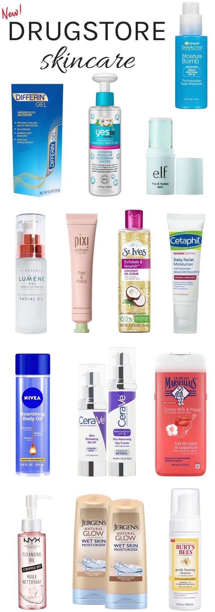 20 new drugstore beauty buys brimming with innovative skincare ingredients, yet easily affordable to help you get better skin even on a tight budget!
