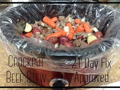 Who doesn't love a bowl of hearty beef stew!? This healthy beef stew recipe is delicious and 21 day fix approved. What's even better is that it take only 10 minutes to prepare and cooks all day in the crockpot! Enjoy!