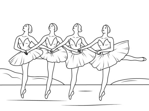 Swan Lake Ballet Coloring Page From Category Select 24848 Printable Crafts Of Cartoons Nature Animals Bible And Many More