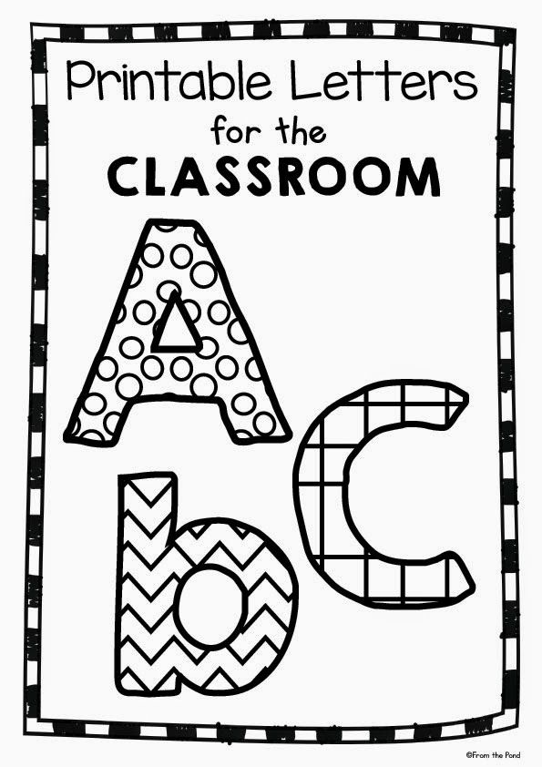 Free printable classroom letters teacher 39 s corner for Letters for bulletin boards templates