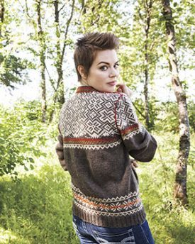 Lofoten Pullover Kit - Brown - Knitting Yarn and Pattern Instructions
