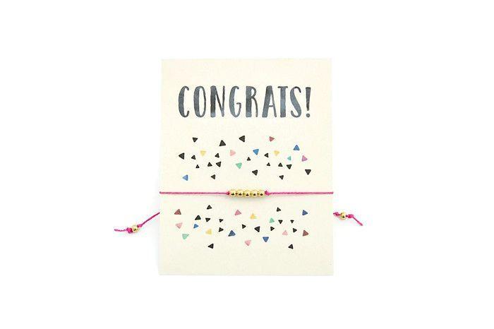 Congrats Wish Bracelet Congratulations Gift Make A Wish Congratulations Card Wedding Engagement Pregnancy Graduation Gift Confetti by VerseShop #etsy wish bracelet make a wish bracelet congrats congratulations gift congratulations card graduation gift pregnancy gift engagement congrats card congrats jewelry congrats on milestone congratulations