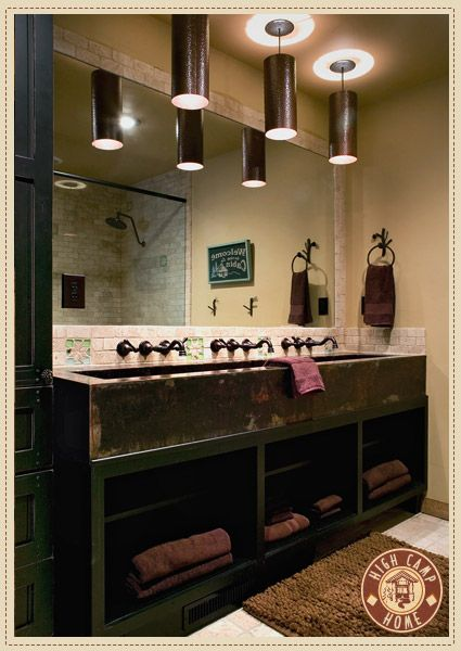 love the trough look for a multi person sink great for a shared bathroom - Multi Bathroom Design