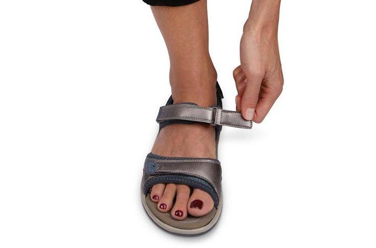 Orthopedic sandals for women orthofeet malibu pewter in