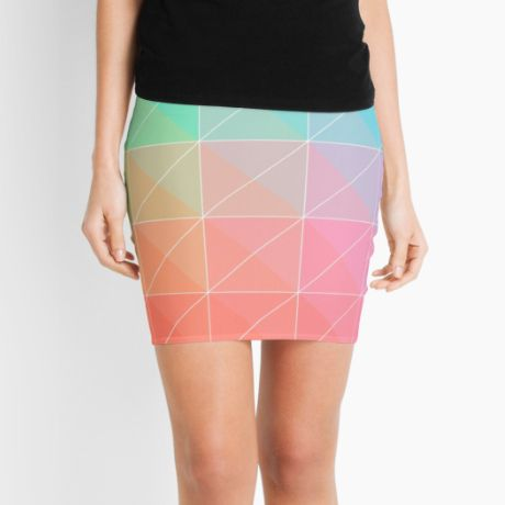 Gradient Pencil Skirt  #fimbis #redbubble #triangles #shapes #skirt #style #styleblog #fashion #fashionblogger #fashionblog #styleblogger #pink #designer #pencilskirt #patterns #abstract #geometric #cyan #green #symmetry #fblogger #lime #orange