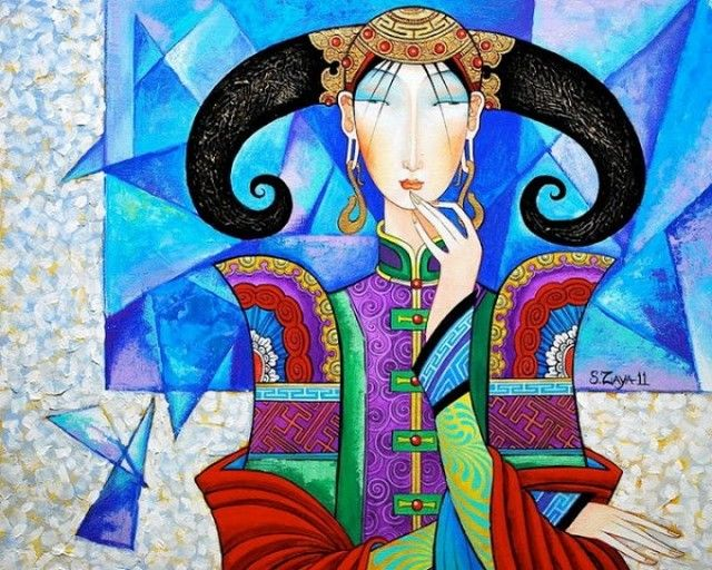 Монгольский художник Самбу Заясаихан (Zayasaikhan Sambuu). Обсуждение на LiveInternet - Российский Сервис Онлайн-Дневников