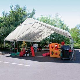 "Weathershield Giant Commercial Canopy 24'W X 50'L White . $2554.00. WeatherShield Giant Commercial Canopy 24'W x 50'L White Host outdoor events under a Heavy-Duty Weathershield Commercial Canopy.Quick and easy assembly on any surface. EZ-Lock slip fittings mean less building time, more event time.14 gauge, 1.66"" OD Allied Gatorshield structural steel tubing.12.5 oz., 24 mil premium covers come with a 15 year warranty.Sidewall height: 6'6"".To provide secure and stable holding..."