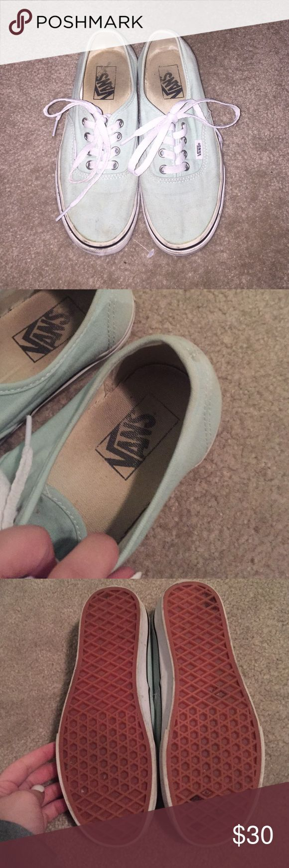 Mint vans Mint vans, a few scuffs on the toe that should come out in the wash! Vans Shoes Sneakers