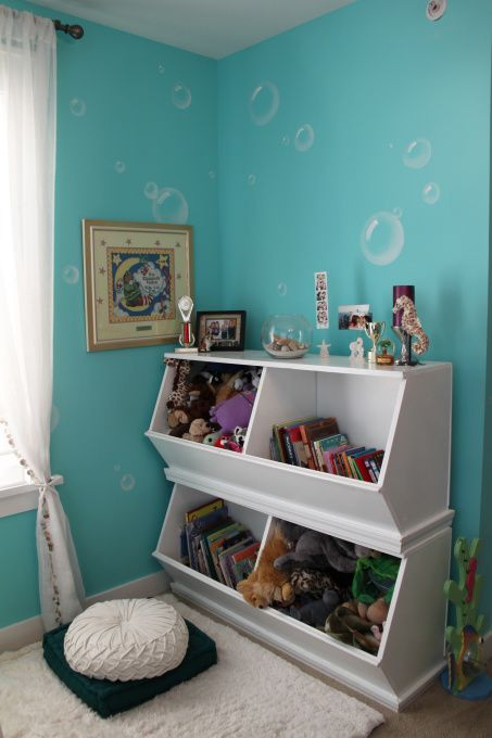 Mias Under the Sea bedroom, This is my older daughters bedroom. She is into animals, and turquoise is her favorite color. This is the third time Ive decorated her room, and this time, she chose an Under the Sea theme., Girls Rooms Design
