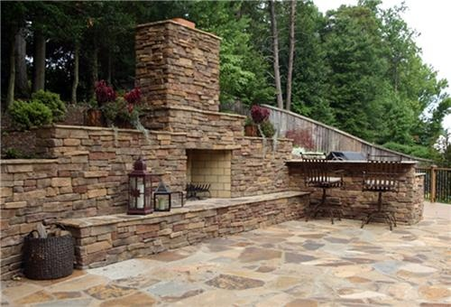 Tennessee Fieldstone Fireplace : Best images about patio fireplace on pinterest