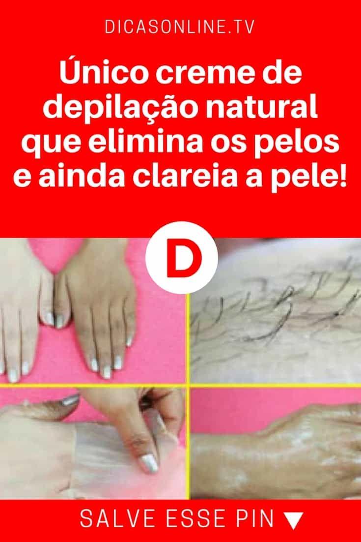 Creme de depilação caseiro | Único creme de depilação natural que elimina os pelos e ainda clareia a pele! | É incrível esta receita. Aprenda ↓ ↓ ↓