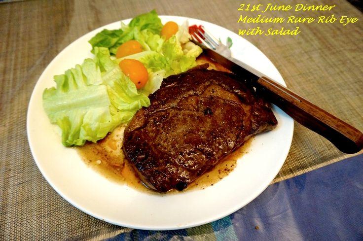 Delicious Med Rare Rib Eye Steak | Prepared with Love ...