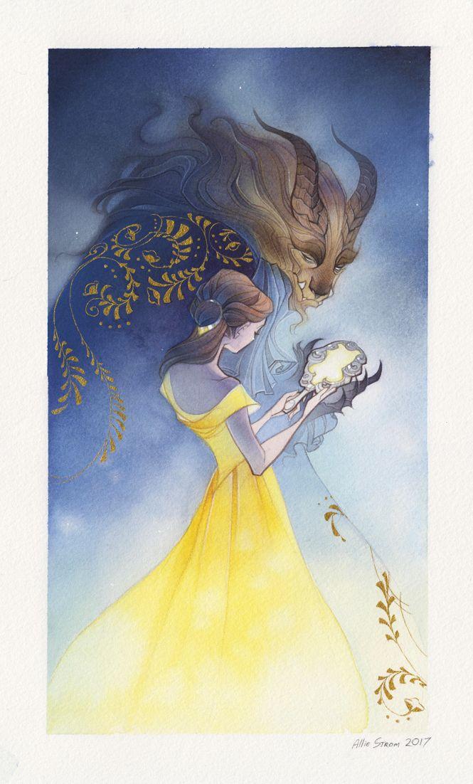 Красавица и Чудовище 2017 - иллюстрация в восточном стиле