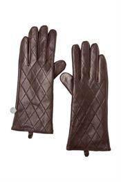 meinLiebling Gertz skind fingerhandsker med tern