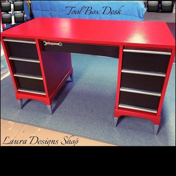 Toolbox Desk by LauraDesignsShop on Etsy