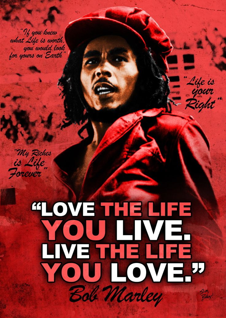 bob marley eulogy 140 quotes from bob marley: 'only once in your life, i truly believe, you find someone who can completely turn your world around you tell them things that you've.