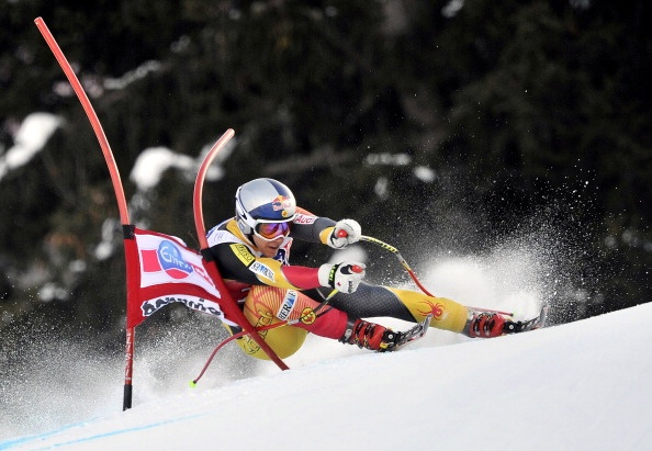 BORMIO, ITALY - DECEMBER 29: (FRANCE OUT) Erik Guay of Canada competes during the Audi FIS Alpine Ski World Cup Men's Downhill on December 29, 2012 in Bormio, Italy. (Photo by Francis Bompard/Agence Zoom/Getty Images)