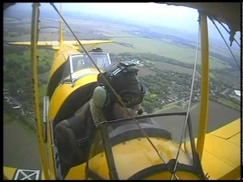 Taking to the skies in a Tiger Moth at Duxford