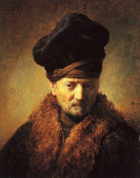 Rembrandt Buste van oude man met bontmuts. 1630 - Rembrandt - Wikipedia, the…