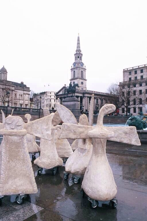 Rolling Angels by Marit Benthe Norheim. Visiting St Martin in the Fields Church London