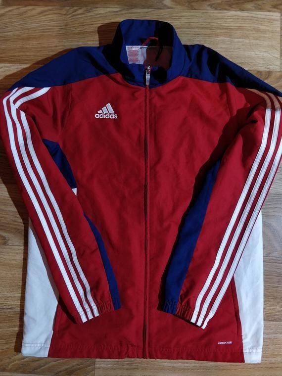 Adidas Mens Tracksuit Top Jacket Training Gymnastik Navy Blue ...
