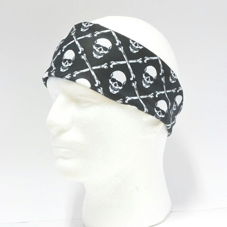 Introducing my new line of men's workout headbands... how cool is this jolly roger fabric?