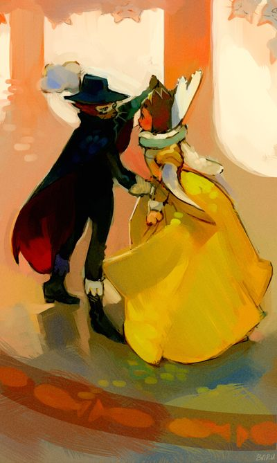 Waltz Katzen Blut by Barukurii.deviantart.com - The Cat Returns - The Baron and Haru