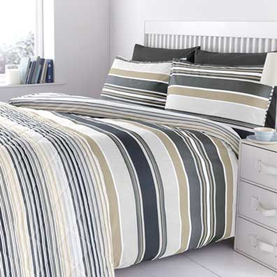 More savings every day on Cotton Stripe Duvet Cover Black at homestore    more. Pinterest