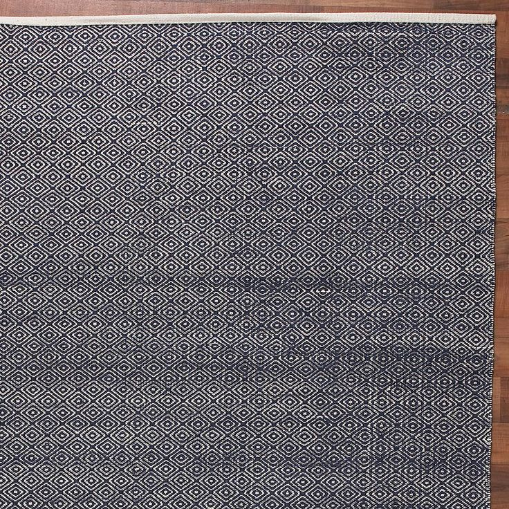 Cotton Diamond Flat Weave Rug: 2 Colors www.shadesoflight.com