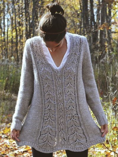 This design is perfect for the knitter who wants variety in their project bag and wardrobe and who wants to feel playful and beautiful in their finished project. Knit with 1075 (1200, 1350, 1500, 1600, 1700) yds #4 worsted-weight Berroco Ultra Alpaca... #knittingpatternssweaters