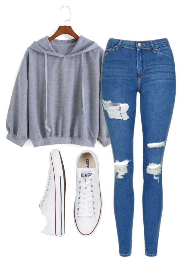 """""""Untitled #571"""" by aaisha123 ❤ liked on Polyvore featuring Topshop and Converse"""