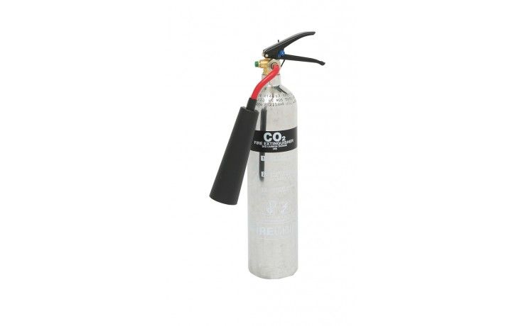 2 kg Polished CO2 extinguisher | Stainless Steel Fire Extinguishers
