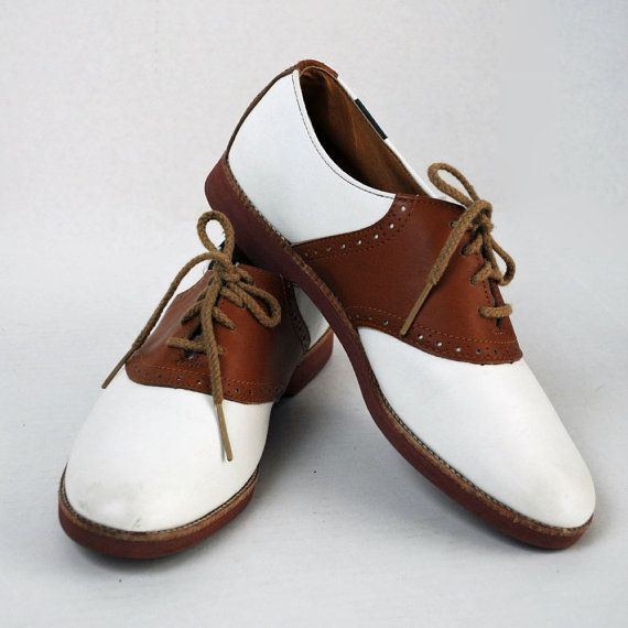 Vintage shoes Lace Up SADDLE OXFORDS / Two by rockstreetvintage