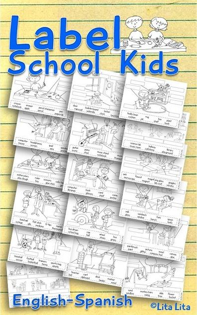 Label School kids worksheets