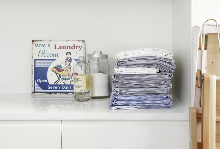 In this laundry room the table tops are made of Tulikivi stone composite. Tulikivi's media