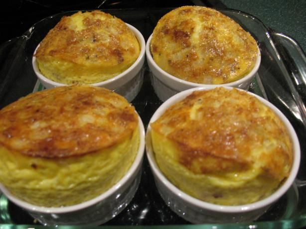 No Brainer Cheese and Egg Souffle from Food.com:   								Adapted from Wyatt House Country Inn   North Conway, New Hampshire, this is easy! They serve this for breakfast!