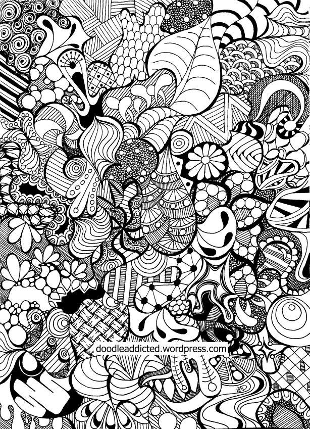 Tangled doodle art in time lapse coloring videos and for Art drawing ideas for adults