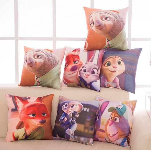 Lovely Zootopia Cushions Judi Rabbit Plush Toy Doll Pillow Cushion Creative Gift to Children Kid Boy Girl Online with $16.17/Piece on Aozhouqie's Store | DHgate.com
