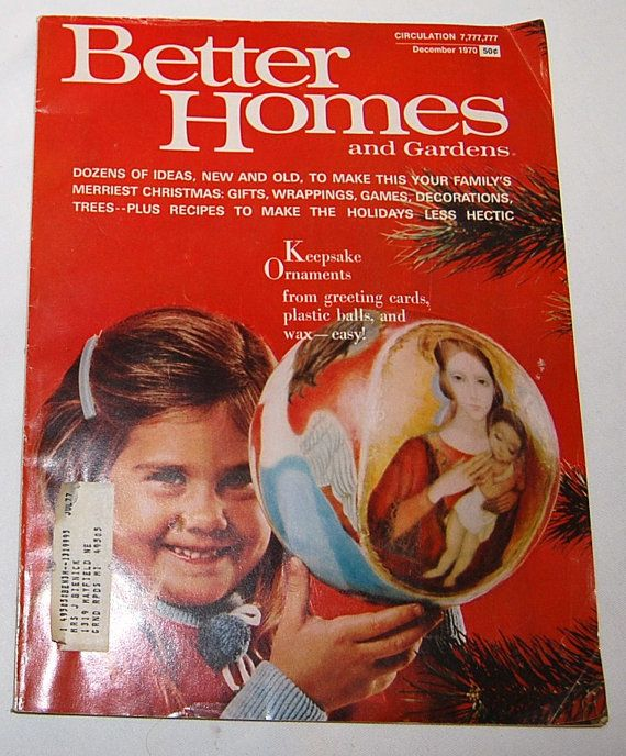 Better Homes And Gardens Magazine December 1970 Back Issues, Past Issues  And Used Magazines