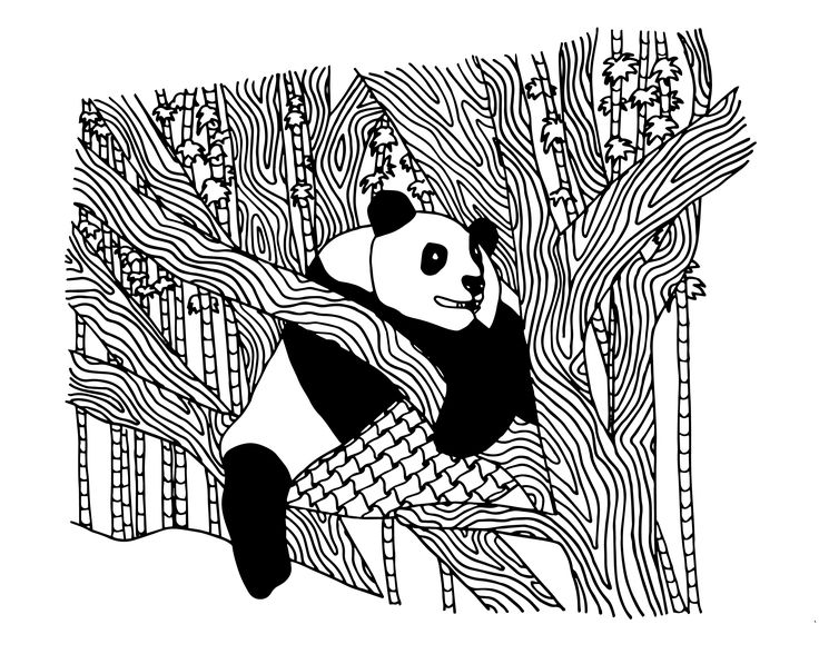 FREE panda coloring pages for adults | FREE Printable ...