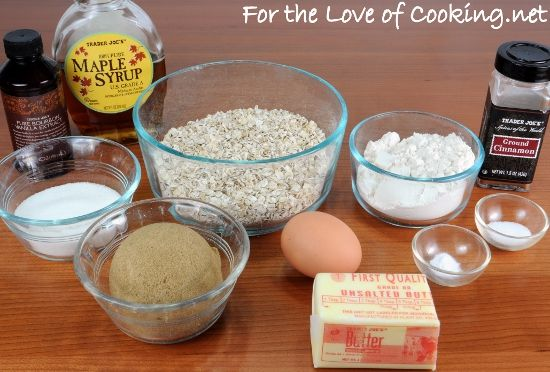 Oatmeal Maple Cinnamon Cookies from For the Love of Cooking