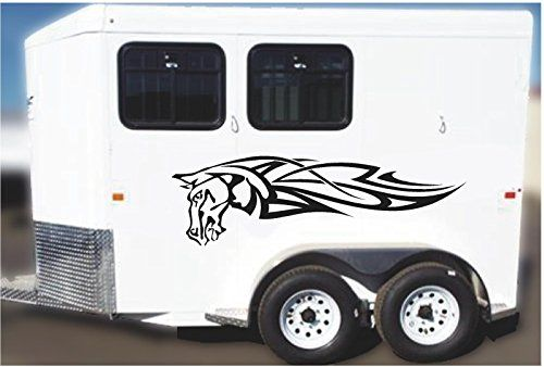 Items similar to equestrian horse trailer decal sticker graphic sign mural tack supplies on etsy