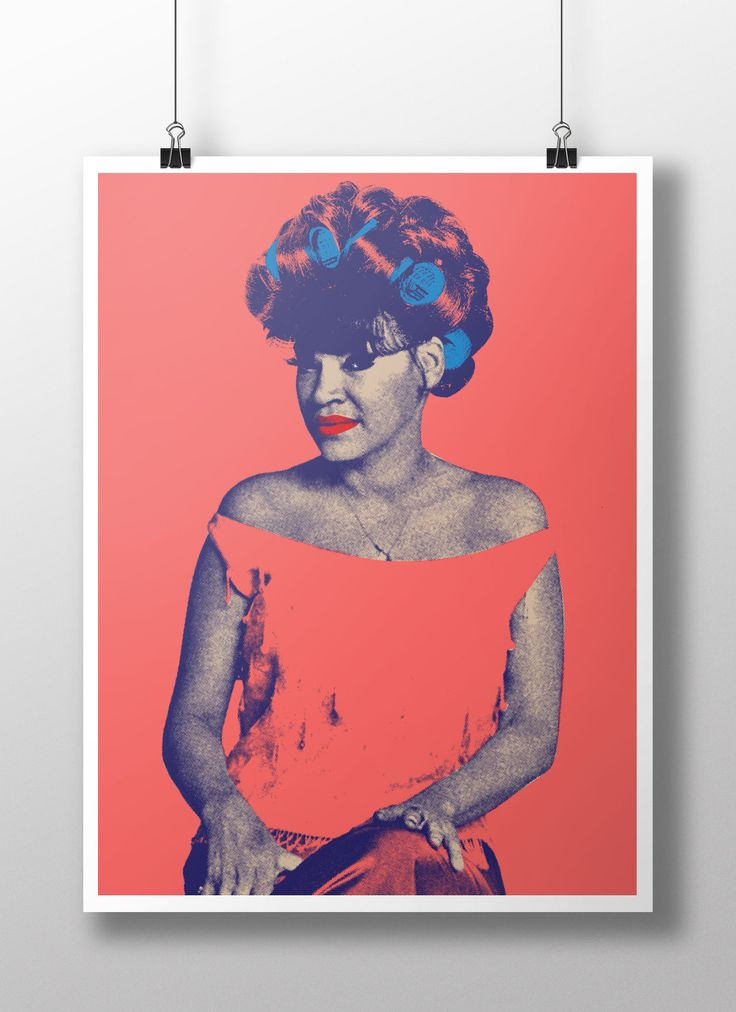 "LA LUPE CON ROLOS 18"" x 24"" POSTER from Peralta Project"