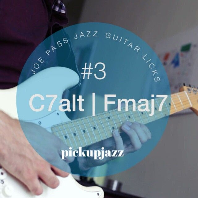 Digging into the treasure trove that is Joe Pass.  C7 augmented arpeggio >> enclosure >> Fmaj7 arpeggio. // One more lick in this series then its time for some fast blues lines. // #pickupjazz #jazzguitarlick #jazzguitar #joepass  #riffwarsjazz
