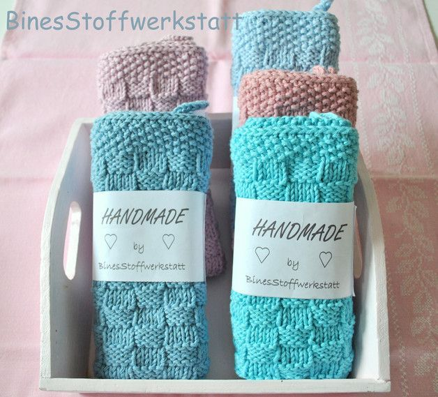 Crochet Patterns Dishcloth Knitted Guest Towel The Following Colors Are In Stock Light Blue Medium Spültuch Stricken Handtuch Häkeln Stricken