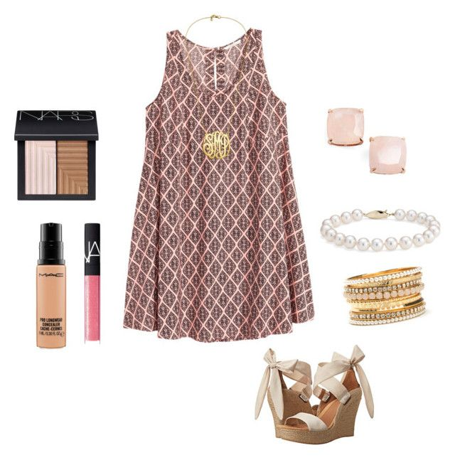"""""""Untitled #49"""" by ablrichh on Polyvore featuring H&M, UGG Australia, MAC Cosmetics, NARS Cosmetics, Blue Nile and Kate Spade"""